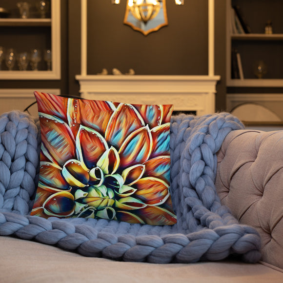 Stylish Pillows with insert, home decor - Dahlia flower, abstract floral