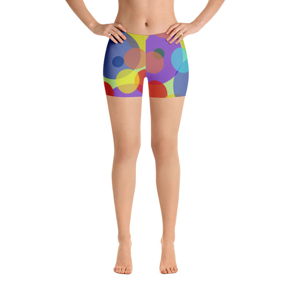 All-over-print Sport Shorts - Pastel ovals pattern