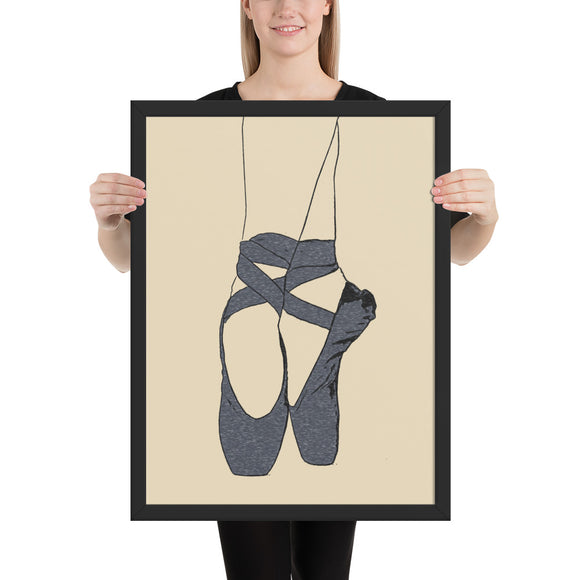 Sexy Art Framed Poster, Premium Luster Photo Paper - Ballet Dancer