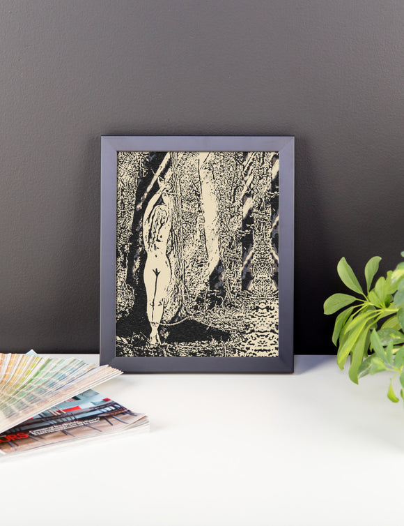 Adult Art Premium Luster Photo Paper Framed Poster - Fetish Nymph 2