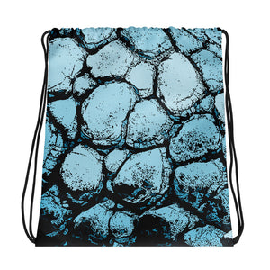 All-over-print Drawstring bag - Light blue rocky wall pattern