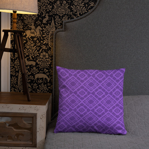Stylish Pillows with insert, home decor - Purple textile pattern