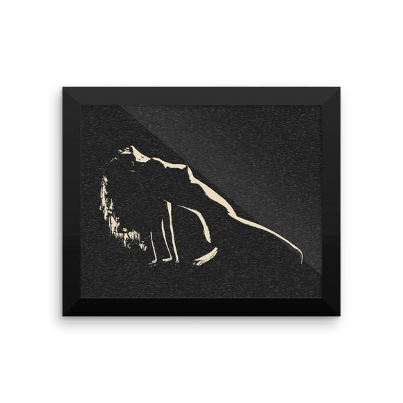 Adult Art Premium Luster Photo Paper Framed Poster - In the shadows