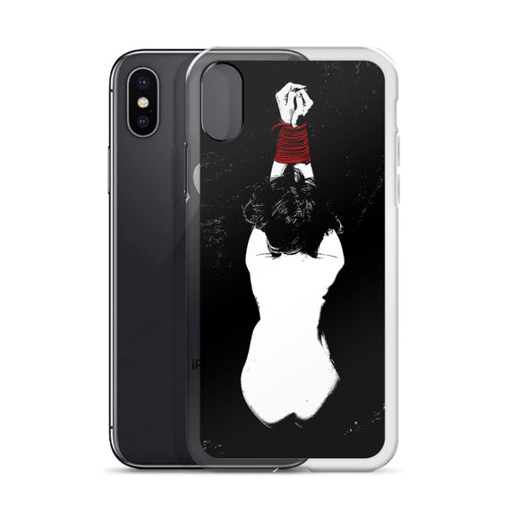 Apple iPhone Solid Case - Yes, Master, always. Fetish style tied girl