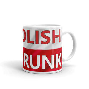 5% Polish, 95% Drunk! Funny Poland flag coffee mug, red and white