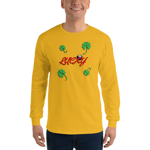 Unisex Gildan Long Sleeve T-Shirt - Lucky 8 ball