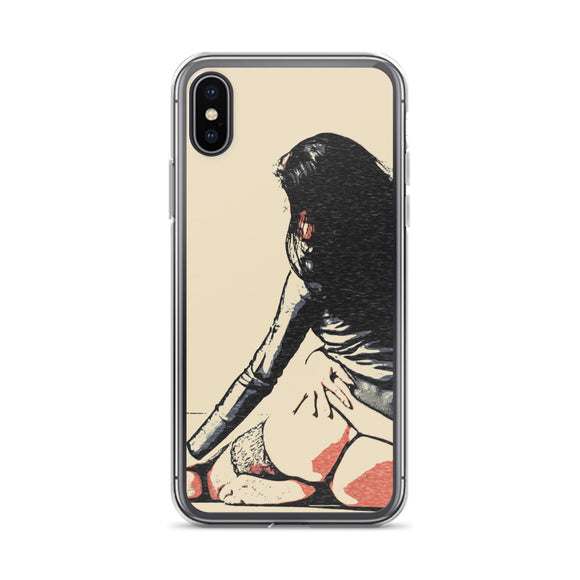 Apple iPhone Solid Case - Sweet tease, perfect brunette girl
