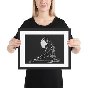 High quality framed art print - BDSM ballet, bound ballerina
