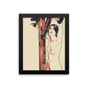 Adult Art Premium Luster Photo Paper Framed Poster - Scared? Yes, you should