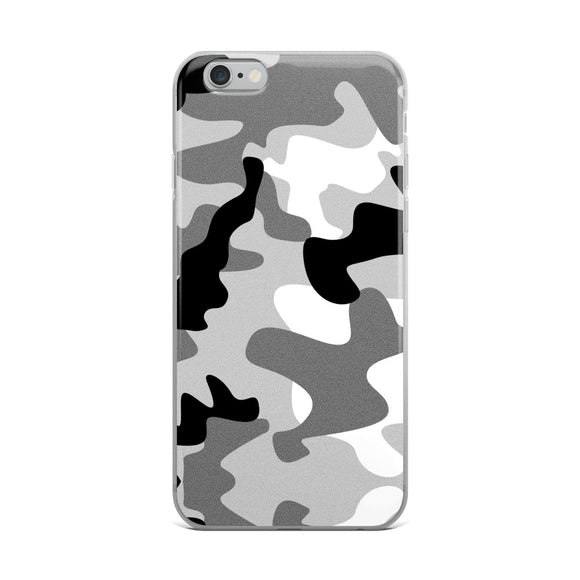 Apple iPhone Solid Case - Black and white army camo