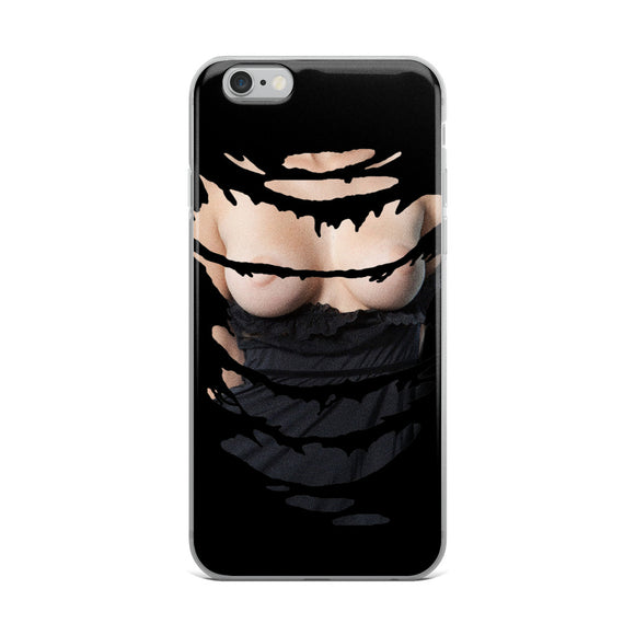 Apple iPhone Solid Case - Look boobies inside a phone! Kinky mobile case