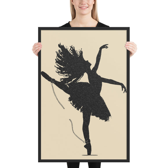 Adult Art Premium Luster Photo Paper Framed Poster - Bound Ballerina