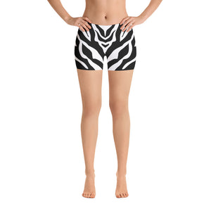 All-over-print Sport Shorts - White tiger stripes pattern