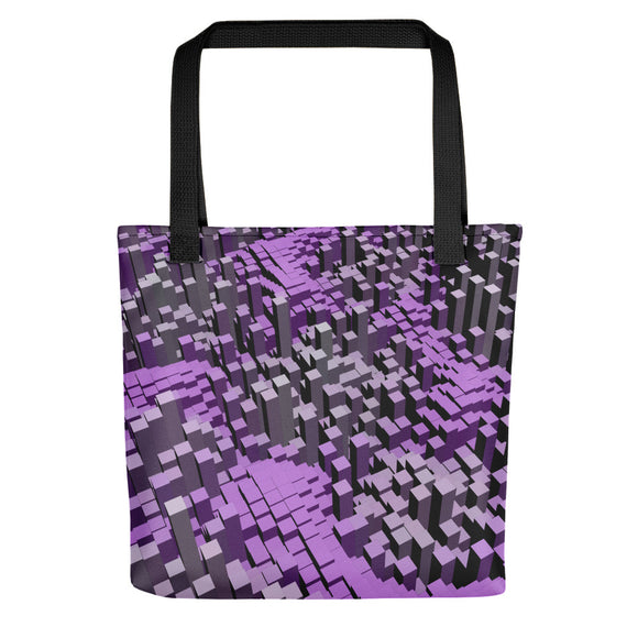 All-over-print Tote bag - Purple and gray block town