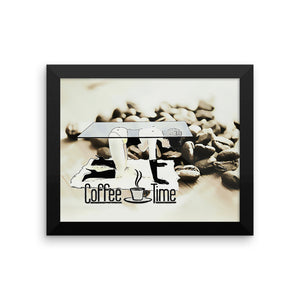 Adult Art Premium Luster Photo Paper Framed Poster - Coffe Time... in BDSM way