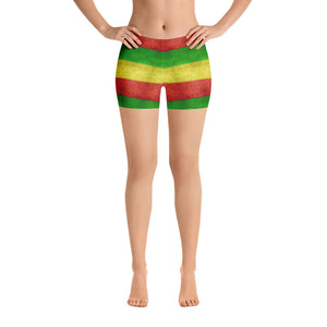 All-over-print Sport Shorts - 420 red, gren, yellow flag