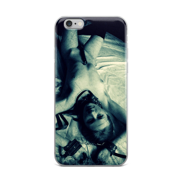 Apple iPhone Solid Case - Dirty posing, sexy slim submissive girl