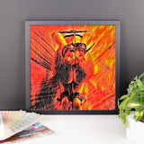 Adult Art Premium Luster Photo Paper Framed Poster - Flames in Bedroom