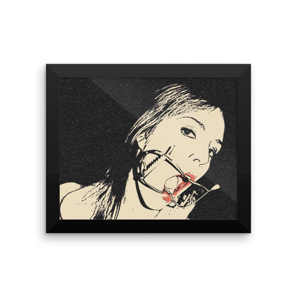 Adult Art Premium Luster Photo Paper Framed Poster - Always provide dental care for your