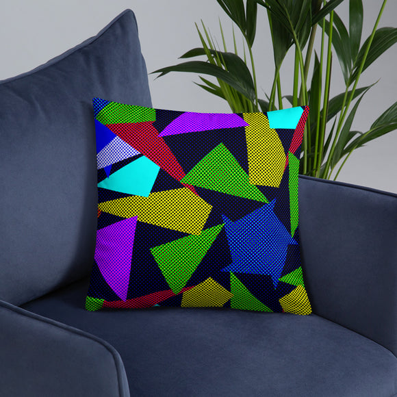 Stylish Pillows with insert, home decor - Dotted triangles pattern