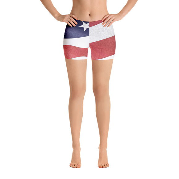 All-over-print Sport Shorts - Patriotic, US flag pattern 2