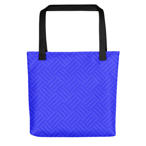 All-over-print Tote bag - Blue corrugated metal plate pattern