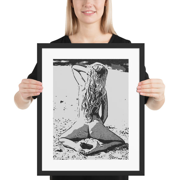 High quality framed art print - Sweet and sexy at the beach