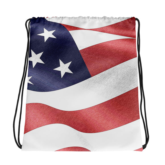 All-over-print Drawstring bag - Patriotic everyday, US flag
