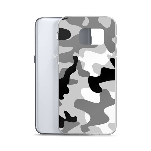 Samsung Galaxy Solid Case - Black and white army camo