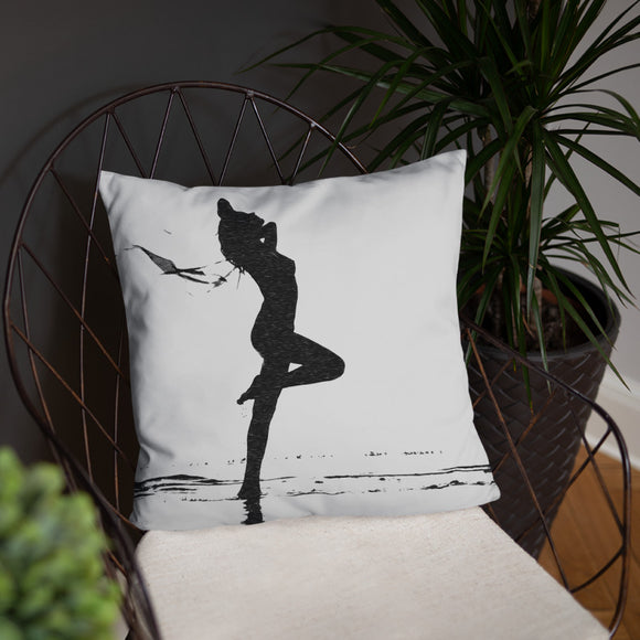 Stylish Pillow with insert, home decor - Set me free, sexy girl silhouette
