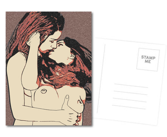 Kinky Postcard, Greeting Card, Photo Card - This is Lesbians girlie love