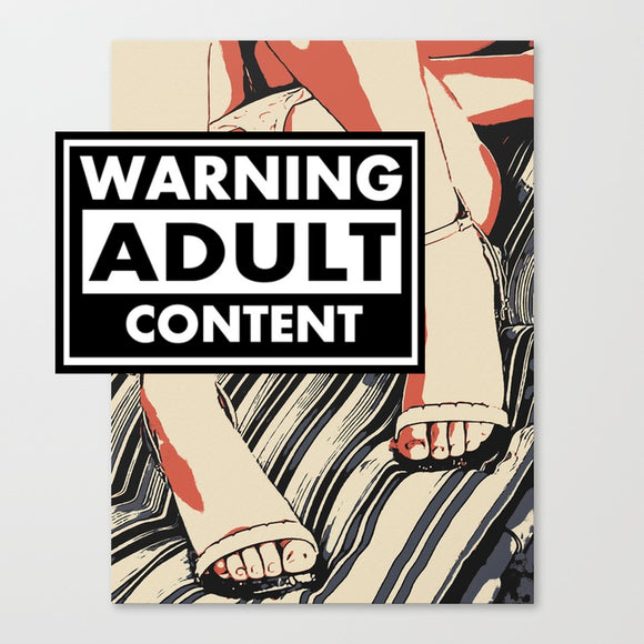Naughty Erotic Art Canvas Print - Dirty POV tease, panties down pop art