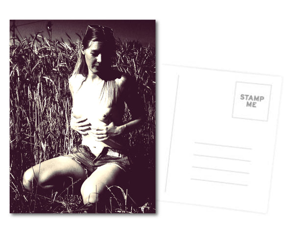 Kinky Postcard, Greeting Card, Photo Card - Just a sexy tease