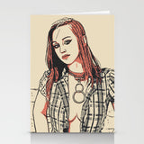 Erotic Postcard, Greeting Card, Photo Card - Owned Beauty, collared redhead