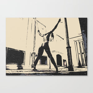 Hard Erotic Art Canvas Print - Pain is her Freedom, erotic slave girl tied, sexy BDSM artwork
