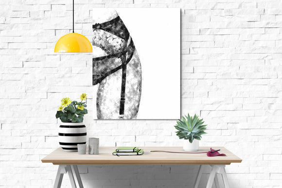 Sensual Erotic Art Canvas Print - Perfect POV, sexy girl in lingerie