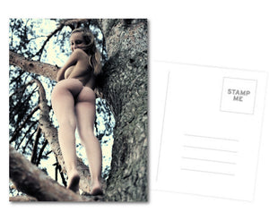 Kinky Postcard, Greeting Card, Photo Card - Beauty at the tree