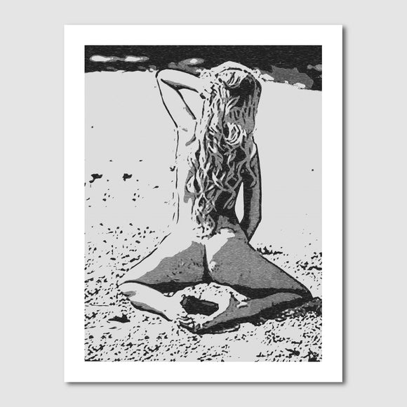 Gallery quality Giclée art print - Sweet and sexy at the beach