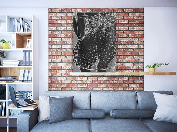 Indoor Wall Tapestries - She's a naughty teaser, sexy girl in lingerie