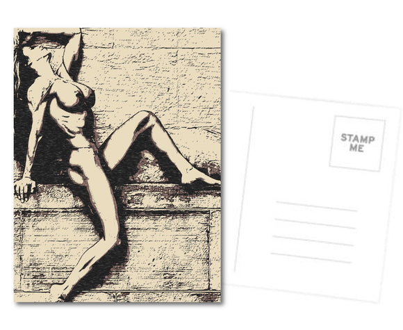 Kinky Postcard, Greeting Card, Photo Card - At the edge of Perfection