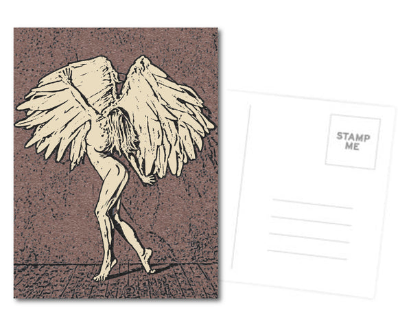Sexy Postcard, Greeting Card, Photo Card - She's an Perfect Angel