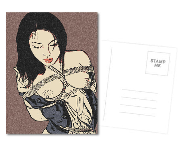 Fetish Postcard, Greeting Card, Photo Card - Shibari games