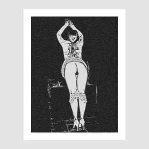 Gallery quality Giclée art print - Spank me Daddy, I was very naughty girl