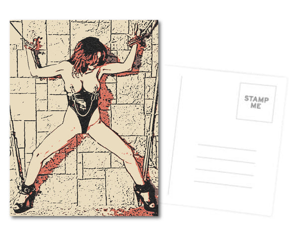 Fetish Postcard, Greeting Card, Photo Card - Bound and stretched