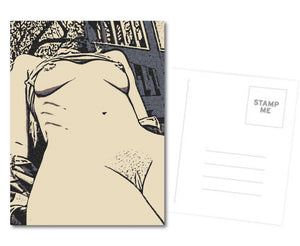 Erotic Postcard, Greeting Card, Photo Card - The Curves - sexy nude girl body