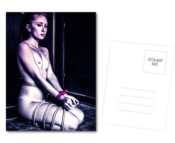 Fetish Postcard, Greeting Card, Photo Card - Sansa got tangled, Sophie Turner (? ;) bondage