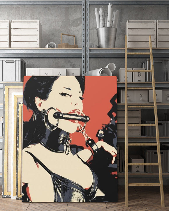 Sexy Art Canvas Print - Fetish Queen, sensual erotic BDSM