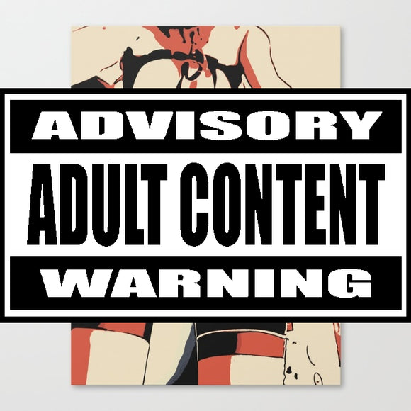 Erotic Art Canvas Print - Whoopsie! Sexy upskirt, kinky adult artwork, naughty pop art