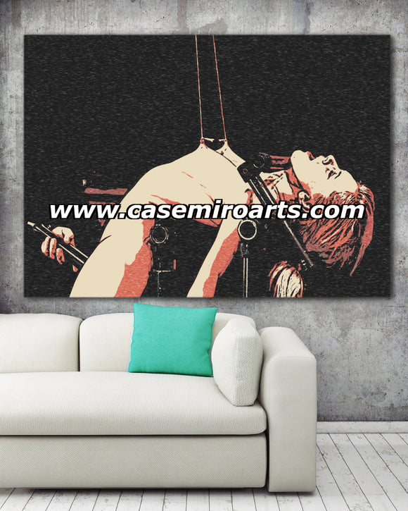 Fetish Erotic Art Canvas Print - Yes, Master, yes! Torture me! - BDSM dungeon Slave girl
