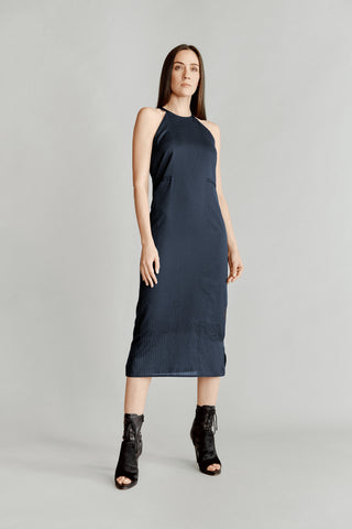 JUL. 18. Navy Stripe Halter Maxi - 50% OFF